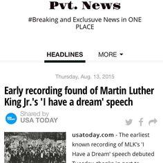 #BlackLivesMatter Pvt. News is OUT  http://ift.tt/1CeNjph #PvtNews Or Google #PvtNews