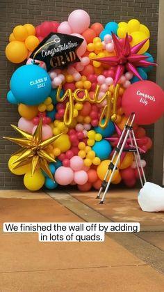 Birthday Balloon Decorations, Birthday Balloons, Birthday Party Decorations, Diy Rainbow Party Decorations, Farewell Party Decorations, Balloon Crafts, Birthday Centerpieces, Balloon Ideas, Balloon Centerpieces