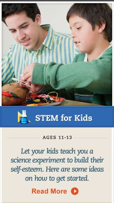 Encourage your child to teach you a science experiment. Click for details. #STEM