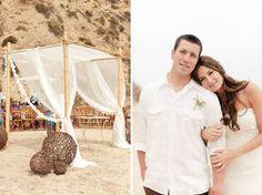 Real Wedding: Katy + Chad's Rustic Beach Wedding