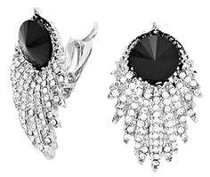 Fancy Earrings Z3 Black Clear Crystal Evening Bridal Clip On Silver Tone Recyclebabe Earrings http://www.amazon.com/dp/B014JJJU0I/ref=cm_sw_r_pi_dp_AG23vb1HG6SHT