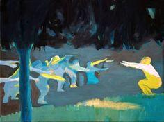 Original People Painting by Wojtek Herman Gymnastics Lessons, Oil On Canvas, Canvas Art, Original Art, Original Paintings, Art Oil, Figurative Art, Buy Art, Saatchi Art