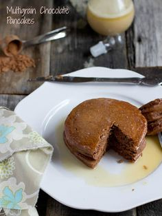 Multi grain chocolate pancakes that are even more delicious, tender, and wonderful than the unhealthy version?! It's true, try it for yourself!