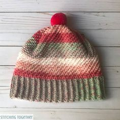 Over the Ridge Crochet Hat with Brim Crochet Hat With Brim, Crochet Mittens, Crochet Baby Hats, Crochet Beanie, Crochet Yarn, Knitted Blankets, Knitted Hats, All Free Crochet, Double Crochet