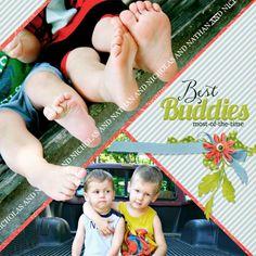 Best Buddies - Newsletter Challenge - Gallery - Scrap Girls Digital Scrapbooking Forum