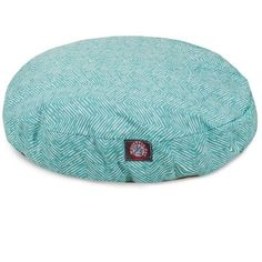 Teal Navajo Large Round Indoor Outdoor Pet Dog Bed With Removable Washable Cover By Majestic Pet Products *** For more information, visit image link.