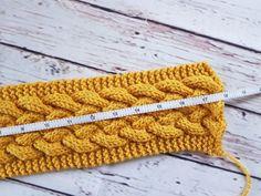 knitting headband Woven cable headband by Priscillia Uloho Erica and Eleanor Knitted Dishcloth Patterns Free, Knitted Headband Free Pattern, Beginner Knitting Patterns, Knitting Blogs, Knitting Stitches, Crochet Headbands, Baby Headbands, Knitting Tutorials, Crochet Patterns