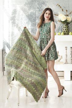 Entrelac Throw  Designed by Erica Schlueter in Noro Nadeshiko.