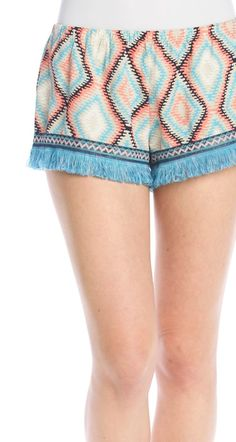 The fringe on these cute boho shorts is the perfect festival detail.