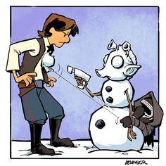 Han Solo and Kylo Ren x Calvin and Hobbes. <-- It's FREAKING GREEDO!!!!!