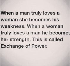 Exchange of power.