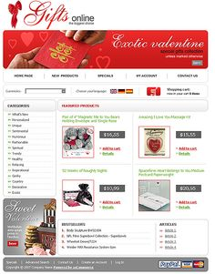 Heart Products osCommerce Templates by Di