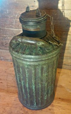 Antique Gas Station Davis Welding & Mfg. Co. Fuel Oil Can 1920's -petroliana - PICK UP ONLY by VintageRelics802 on Etsy