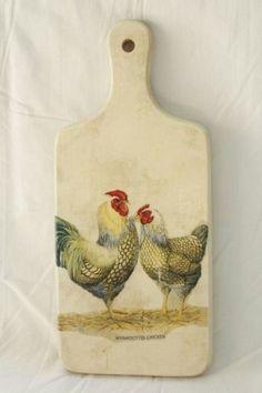 Decoupage - hens