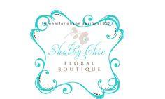 Shabby Chic Floral Boutique | custom business logo design #jenniferalisondesigns.com