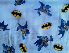 Batman fabric 100 cotton comic book style with blue by JeAdore, $7.50