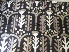 """8 Yds 12"""" x 56"""" Marimekko  Finland Cotton Fabric """"Poppeli""""  Kristina Isola 1992 #Marimekko"""