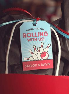 How to make bowling party favor bags