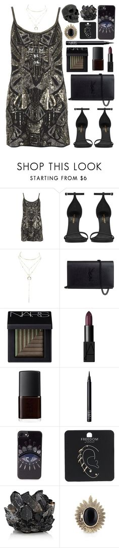 """Untitled #790"" by clary94 ❤ liked on Polyvore featuring Isis, Yves Saint Laurent, Charlotte Russe, NARS Cosmetics, Kenzo, Topshop, McCoy Design and House of Harlow 1960"