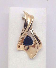 STUNNING 14K YELLOW GOLD GENUINE BLACK ONYX DIAMOND SLIDE PENDANT #Pendant