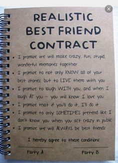 Best Friend Diy Notebook Birthday Gifts For Friends Bff