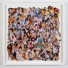"""Ryan McGinley's """"Whirling Swirl 1,"""" 2011, collage"""