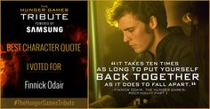 I voted for Finnick Odair as Tribute for The Hunger Games Tribute Awards #TheHungerGamesTribute  tribute.thehungergames.movie