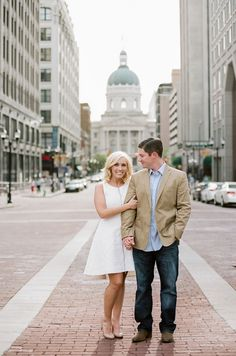 Jenna Henderson, Photographer: Indianapolis Engagement Photographer - Matt & Colleen Downtown Indianapolis Session