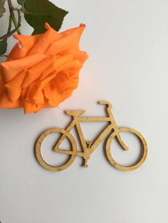 Bicycle Wood Cut Out Wood Craft Embellishment by 9MilesSouth