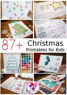 87+ Christmas Printables for Kids | 3 Dinosaurs Christmas Writing, Christmas Trees For Kids, Christmas Math, Christmas Words, Christmas Countdown, Christmas Themes, Christmas Crafts, Christmas Goodies, Preschool Christmas Activities