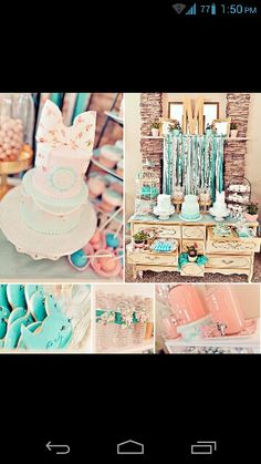 Super cute theme and colors for a gender reveal party