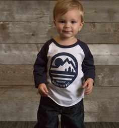 Kids Wheeler 3/4 Sleeve #upperleftusa #pnw #thegreatpnw #kids #fashion #northwest