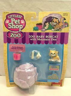 Littlest Pet Shop Zoo Baby Bobcat 1993 Vintage Kenner