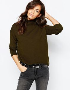 New Look | New Look Stand Neck Sweater at ASOS