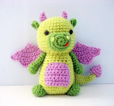 dragon amigurumi, dragon crochet, dragon crochet pattern, dragon crochet toy, dragon amigurumi doll Cute Crochet, Crochet Crafts, Yarn Crafts, Crochet Baby, Crochet Projects, Knit Crochet, Crochet Ideas, Crochet Sloth, Crochet Penguin