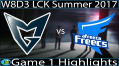 SSG vs AFS Game 1 Highlights W8D3 LCK Summer 2017