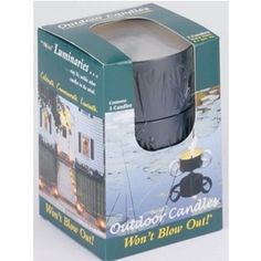 Windflame Outdoor Candles - 3-Pack Black Tin by Windflame. $7.99