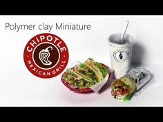 Simple Miniature CHIPOTLE Inspired Miniatures - Polymer Clay Tutorial - YouTube