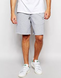 G-Star RAW | Gray Sweat Shorts Basic for Men | Lyst