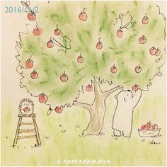 1019 りんご狩り Apple picking