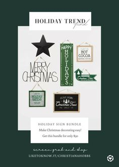 Make Christmas decorating easy! Get this wall sign bundle for only $50 #LTKhome #LTKunder50