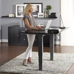 Have to have it. Jesper 65 in. Adjustable Sit and Stand Desk - $1119.98 @hayneedle.com