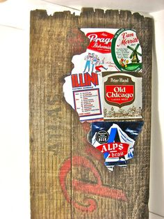 Love these beer can collages...perfect gift for the guys!