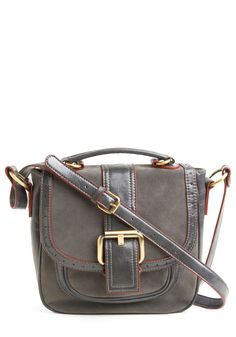 Looking for a new over the shoulder bag... grey with red accent.