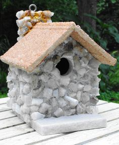 Winter Wonderland Birdhouse by JaCoBirdhouses on Etsy, $85.00