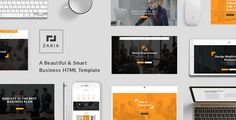 nice Zaria - A Stunning &amp Intelligent Small business HTML Template (Corporate)