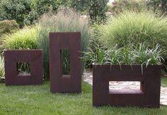 square metal planter