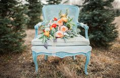 Chair photography. Could use my peach satin chair. Modern Day Floral | Paige Gabert Photography