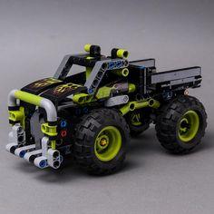LEGO MOC 42118 Dump Truck by Keep On Bricking | Rebrickable - Build with LEGO Dump Truck, Lego Moc, Brick, Cars, Autos, Car, Bricks, Automobile, Trucks