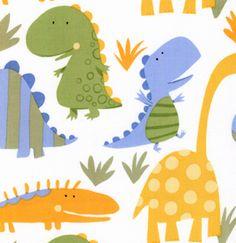 David Walker Oh Boy! Dinos Allover White Fabric - for mom feelings Character Illustration, Illustration Art, Dinosaur Projects, Dino Kids, Kids Market, Kids Graphics, Kids Icon, Mid Century Modern Art, Kids Patterns